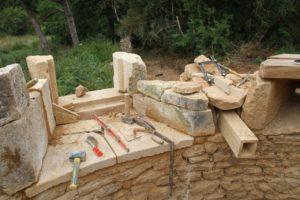 chantier au château du Boux