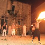 les cracheurs de feu au château du Boux