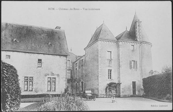 le vieux château du Boux