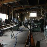 l'atelier bois du château du Boux