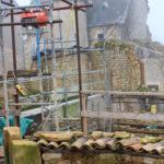 protection du haut des murs de la tour