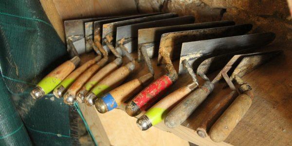 outils de stage au château du Boux